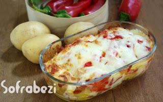 Koz Biberli Firin Patates (Yalanci Kumpir)