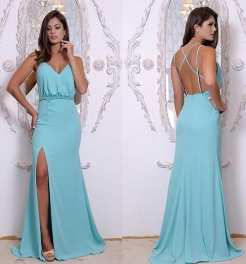 Onde comprar vestido azul