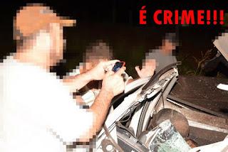 Fotografar vítimas mortas em acidentes de trânsito é crime; veja vídeo