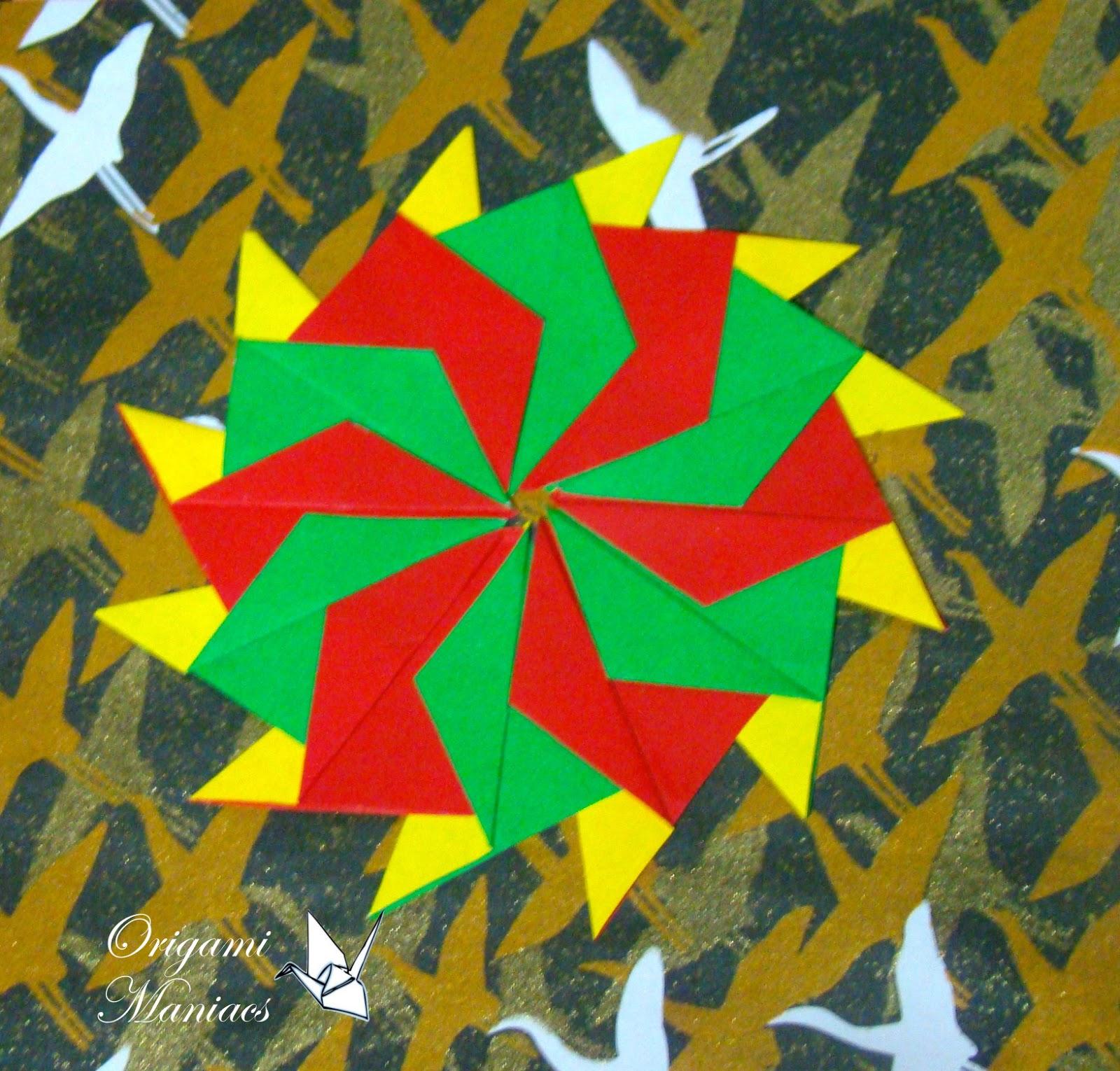 Origami Maniacs: Origami Mandalas for Christmas Trees ... - photo#50