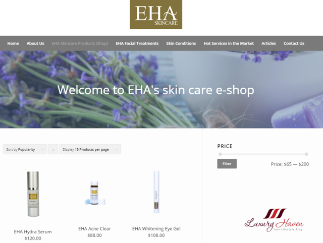 EHA Skincare Offers 10% Discount Online with Free Delivery!