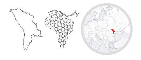Mołdawia przypomina  kształtem kiść winogron