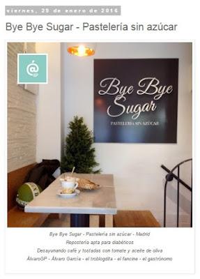 Lo + leído en el troblogdita - abril 2016 - ÁlvaroGP - el troblogdita - Bye Bye Sugar - Pastelería sin azúcar