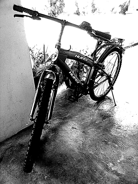Mobile Photography, Huffy Is A Red Bicycle 01