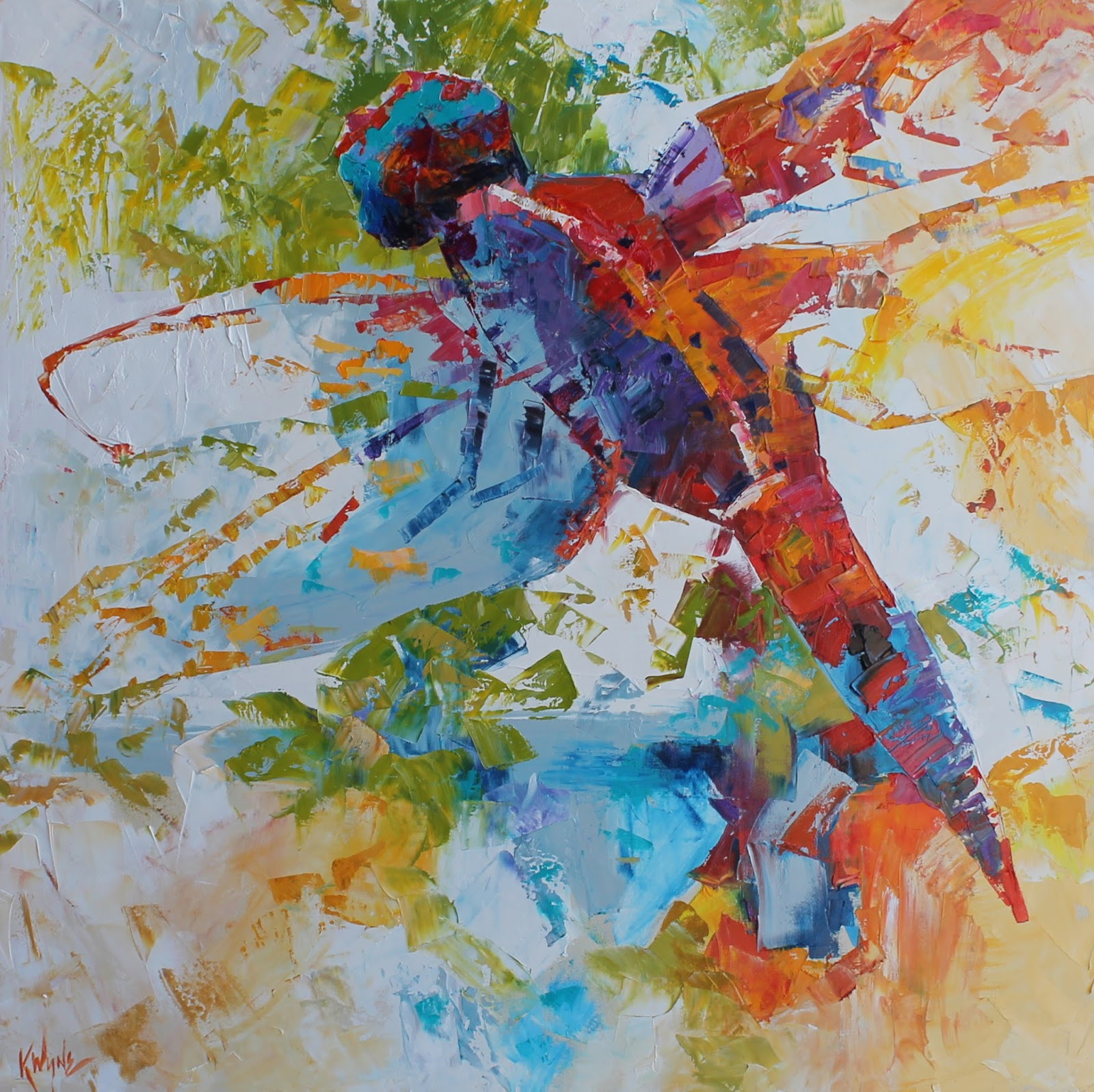 Kay Wyne Fine Art Blog: Red Dragonfly - Sold
