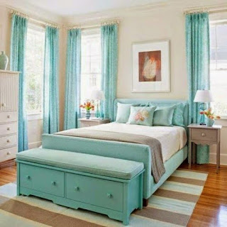 dormitorio juvenil turquesa gris