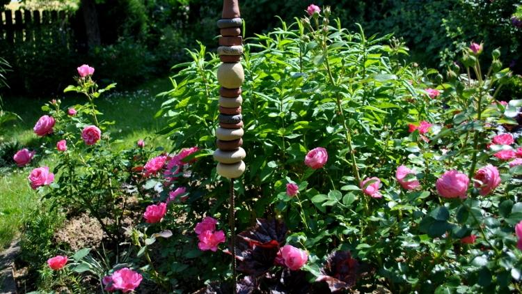 Das fertige Rosenrondell