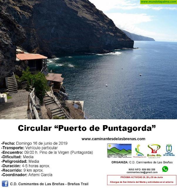"""Caminantes de Las Breñas, Domingo 16 de Junio: Circular """"Camino del Puerto de Puntagorda"""""""