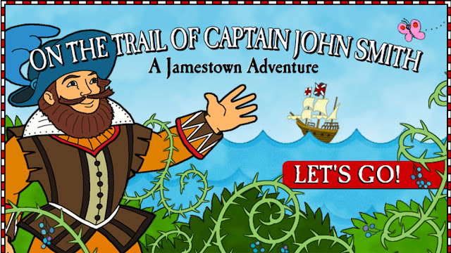 http://kids.nationalgeographic.com/games/adventure/on-the-trail-of-captain-john-smith/