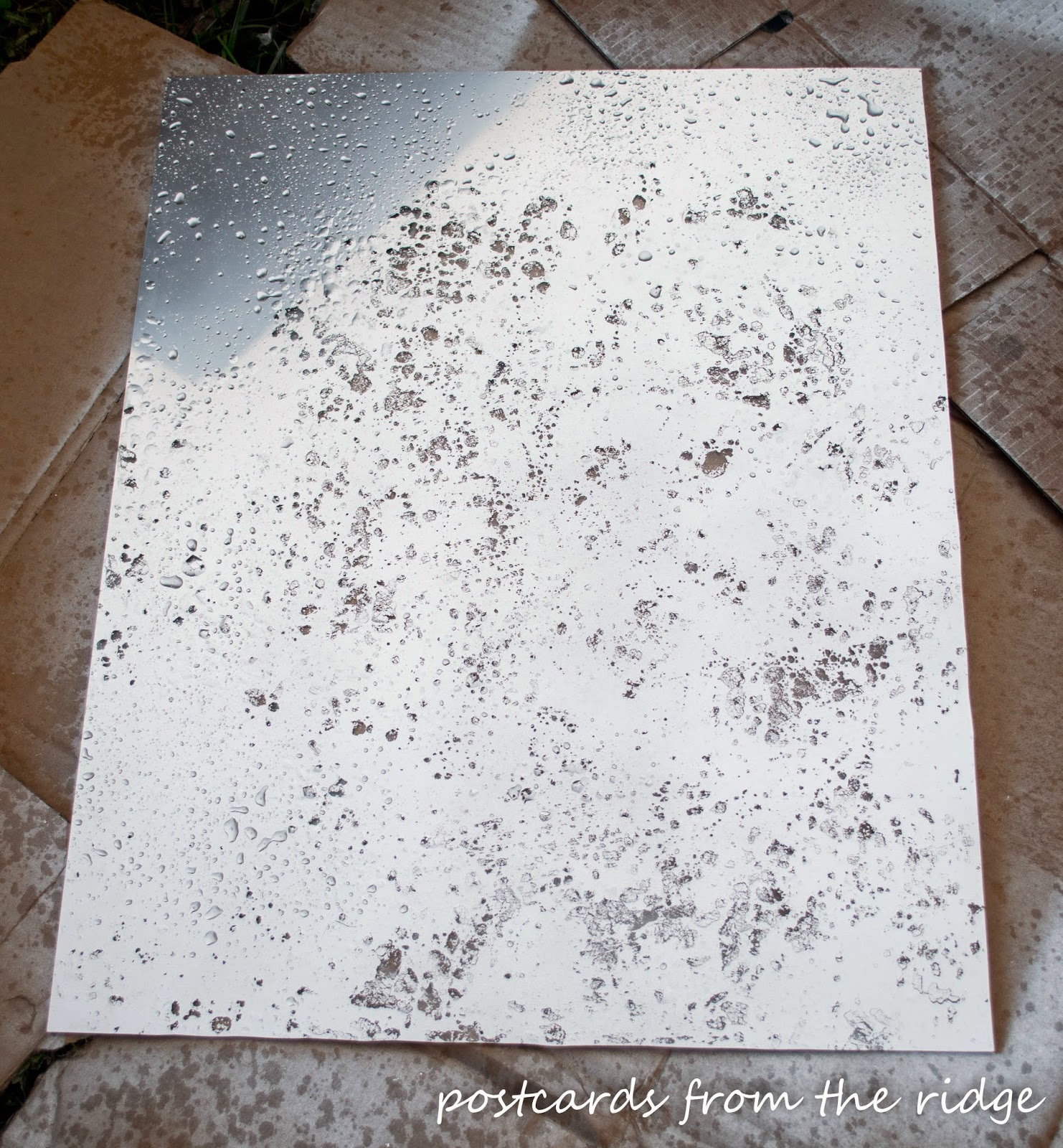 How to make mercury glass with spray paint. Unbelievably easy!