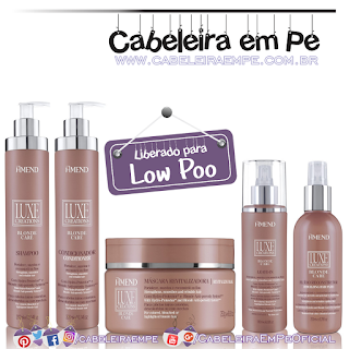 Shampoo, Condicionador, Máscara Leave in e Fluido Recnstrutor Luxe Creations Blonde Care - Amend (Low Poo)