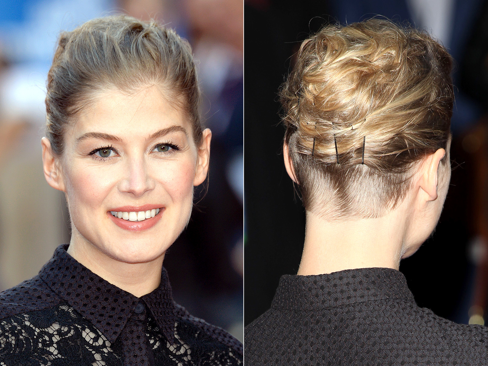 Hair Style Zero: Lady Nape: Rosamund Pike Shaved Nape Undercut Hairstyle