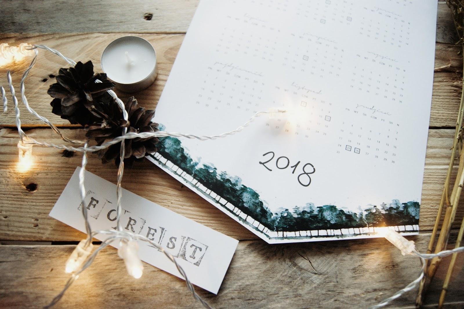 Do pobrania minimalistyczny kalendarz na 2018 rok