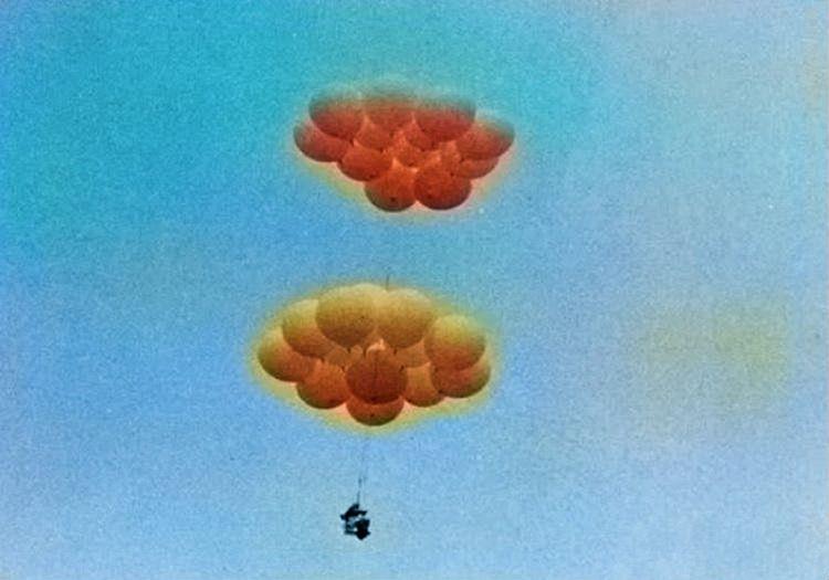 Larry Walters, 2 Temmuz 1982 sabahı yerden havalanarak balonlarla uçmaya başladı.