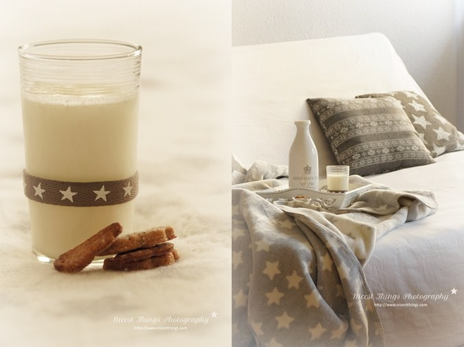Milchglas und Bellybutton Sternendecke in Grau