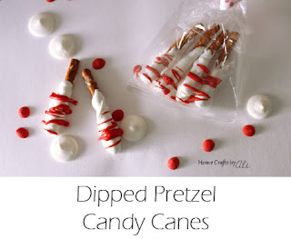 Dipped Pretzel Candy Canes