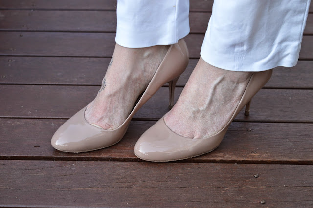 Sydney Fashion Hunter The Wednesday Pants #37 - Kurt Geiger Nude Pumps