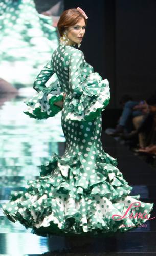 traje flamenca de lunares Lina 2016