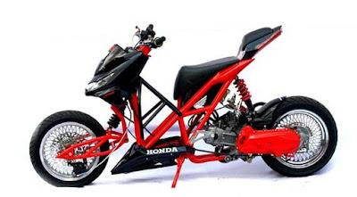 Modifikasi Honda Beat FI Hitam Modif Extream Paling Gila