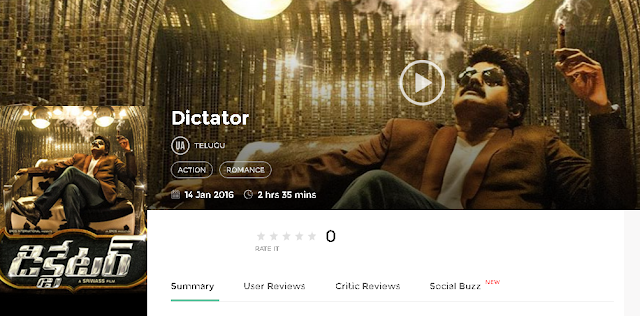 Dictator 2016 Telugu Movie 300Mb & 700mb HD