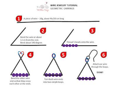 Wire Jewelry Tutorial by WireBliss - Beaded Geometric Earrings