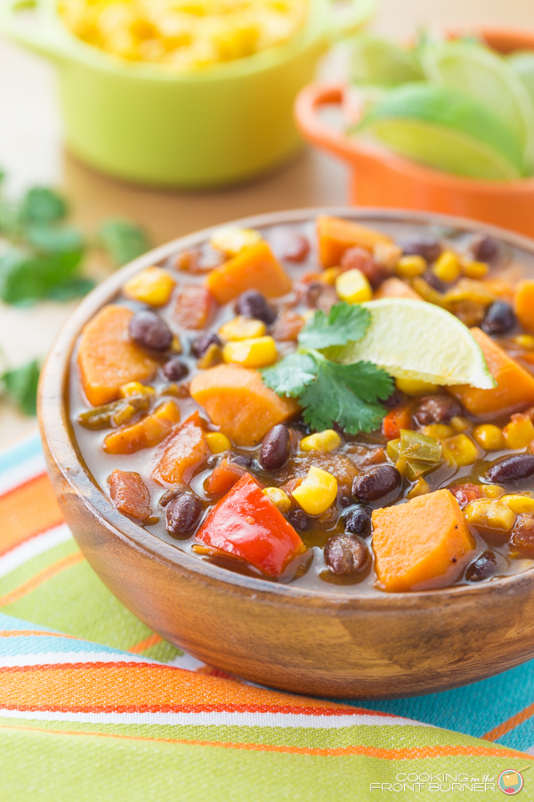 Sweet Potato & Black Bean Soup   Cooking on the Front Burner