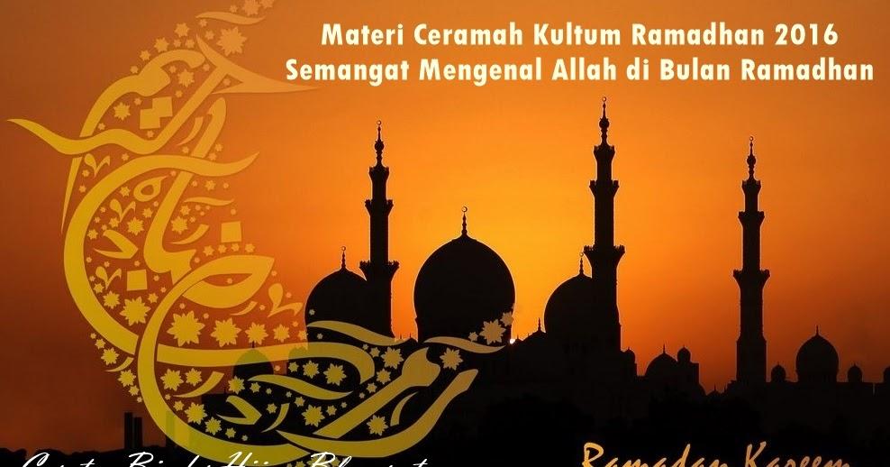 Contoh Contoh Ceramah Ramadhan  Contoh QQ