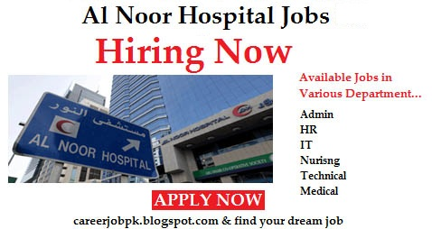 Nurse Required in Al Noor Hospital Abu Dhabi