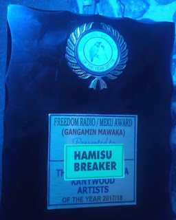 Hamisu Breaker ya lashe kyautar gwarzon mawaki na Freedom Radio Meku Award