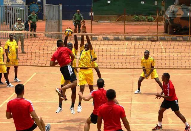 Satgas Kizi TNI Konga XXXVII-E/Minusca Car Ikuti Turnamen Volly di Bangui