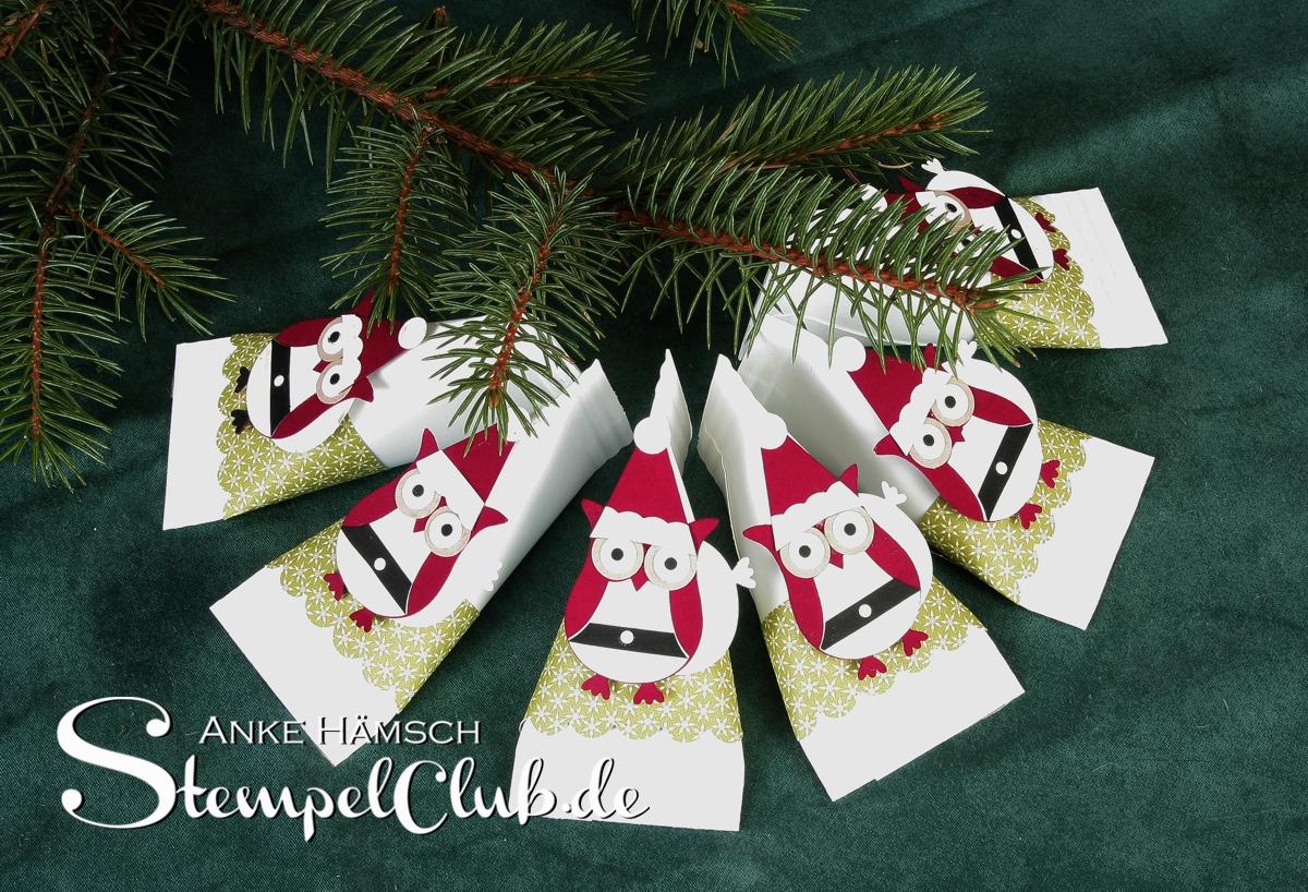 Kleine Verpackung mit Weihnachtseule, Eule