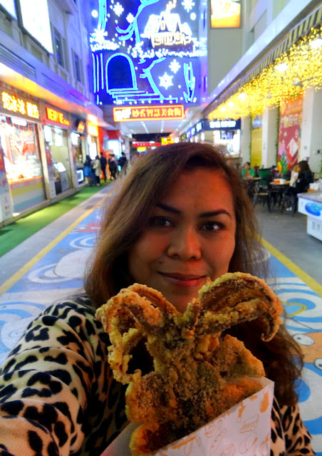 Deep fried breaded squid in Xiamen