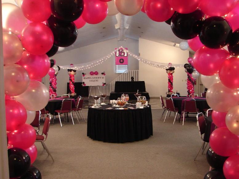 Feliz arcos con globos decoraci n de - Globos para eventos ...