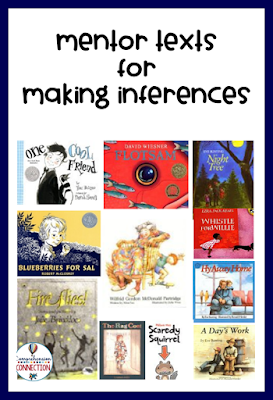 Check out this post for teaching ideas using some of the books included in this image. Freebies included.