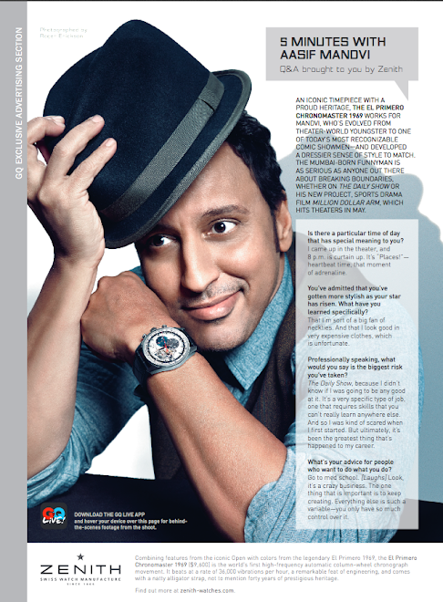 Aasif Mandvi/Zenith Watches for GQ