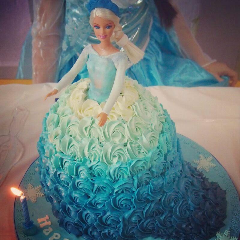 Butterfly Cake Elza Frozen Cake Doll Cake