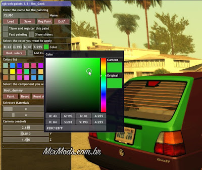 gta sa mod pintar carros color cars rgb