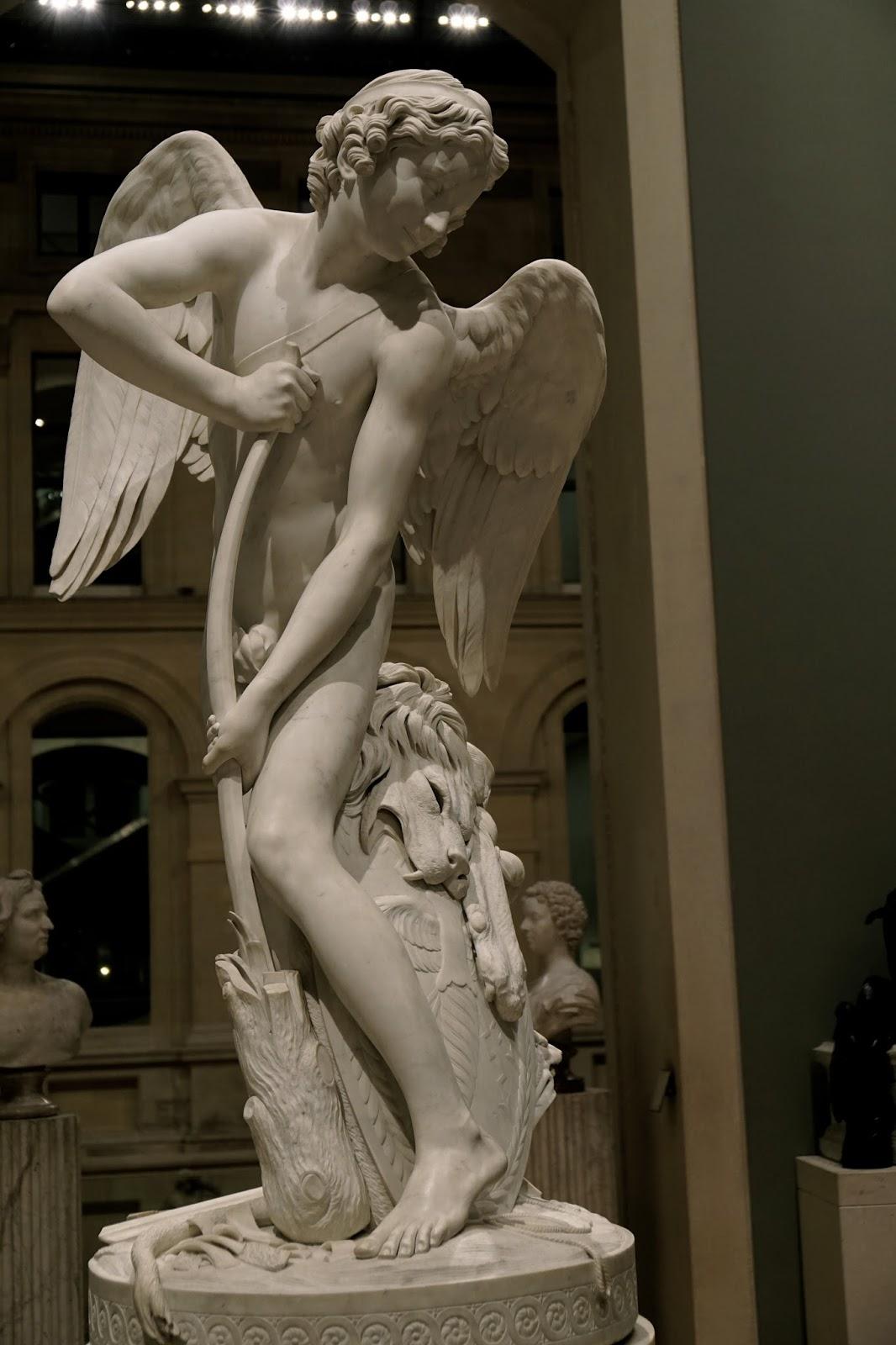 ヘラクレスの棍棒で弓を作るキューピッド(l'Amour se taillant un arc dans la massue d'Hercule)