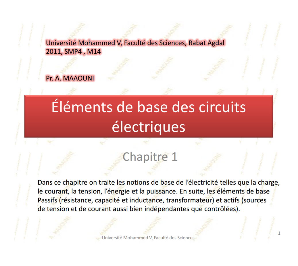 cours d'électronique de base smp s4