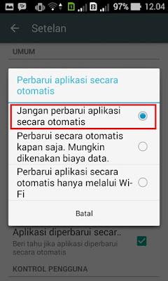 Cara Agar Aplikasi Pada Android Tidak Update Otomatis