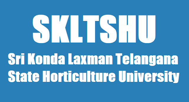SKLTSHU,teaching non-teaching posts,Telangana State Horticulture University