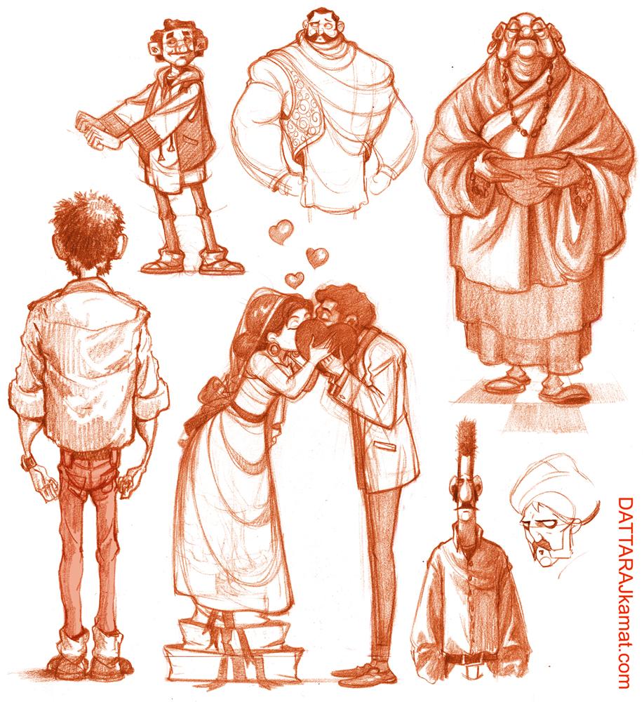 Character Designer Salary Disney : Dattaraj kamat animation art character designs