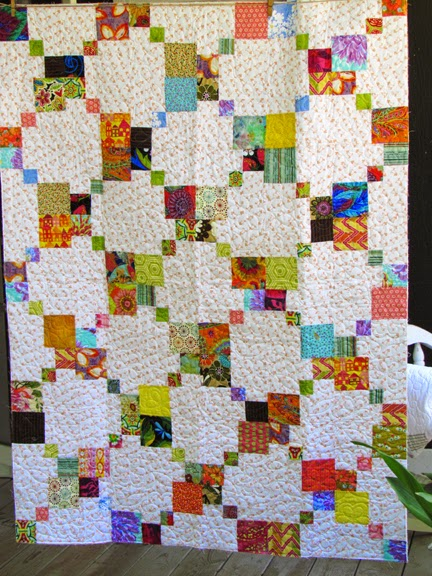 """Inspired by a 9-patch"" workshop for Quilter's Guild Acadienne"