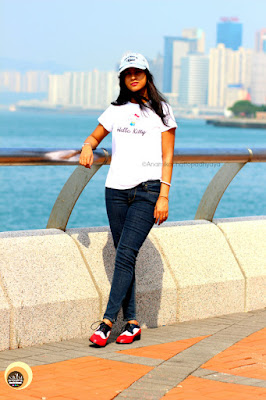 Anamika Chattopadhyaya wearing FSJ Shoes Women's Oxford Flat lace-up vintage brogues, Hong Kong Beauty and fashion blogger