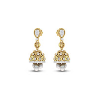Pearl Jhumkas - Zaamor Diamonds