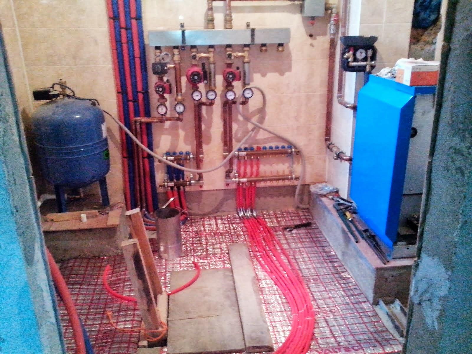 Монтаж котельной с двухконтурным газовым котлом DUDERUS