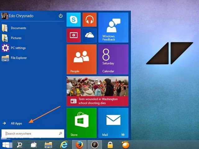 Cara Membuka zPC Settings di Windows 10