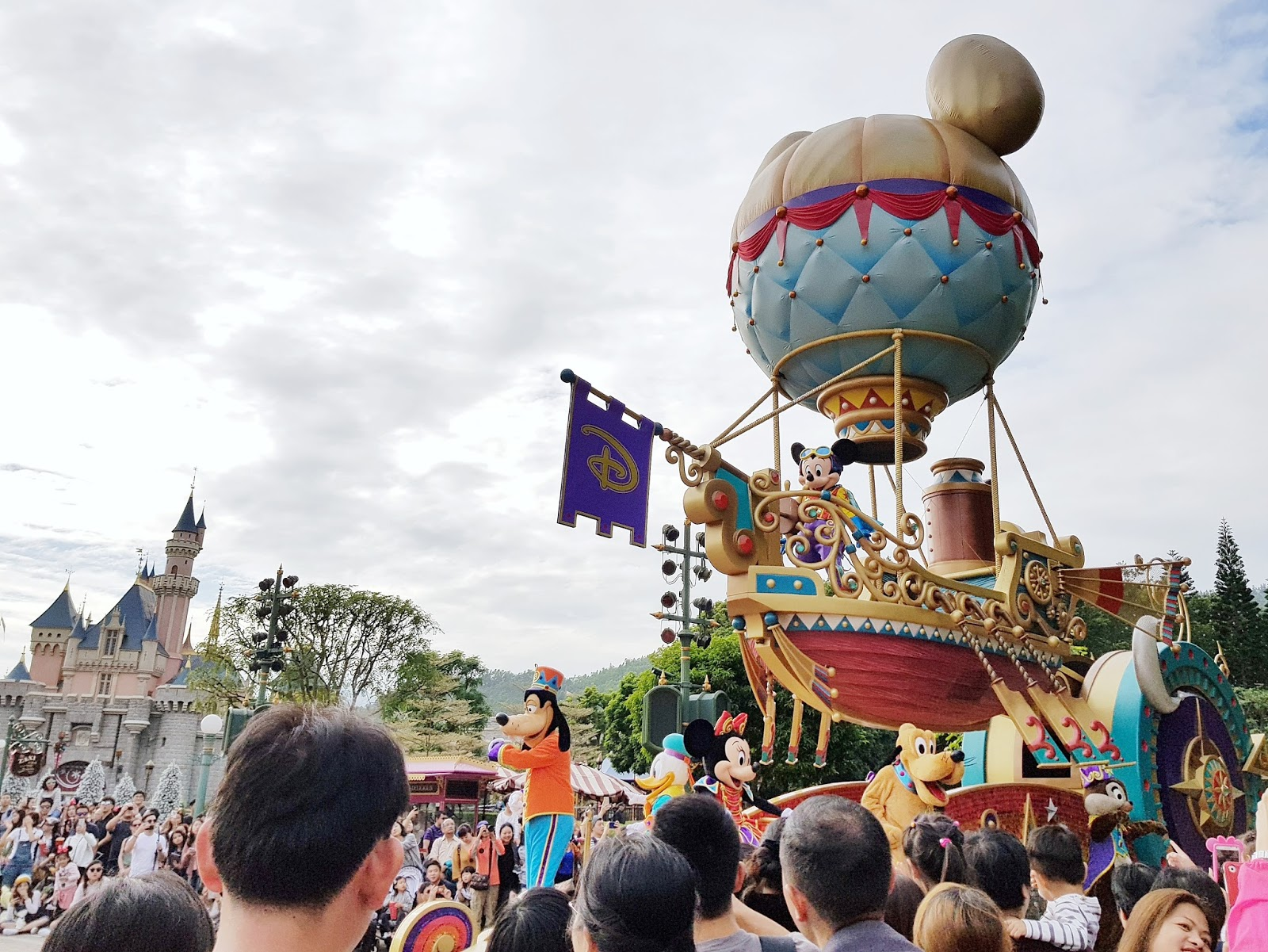 Celebrating Christmas in Hong Kong Disneyland