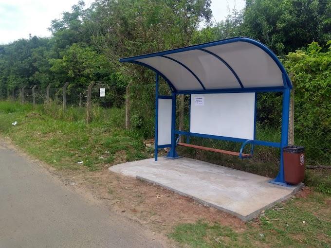 GRAVATAÍ | Prefeitura instala novas estruturas de abrigo de ônibus no município